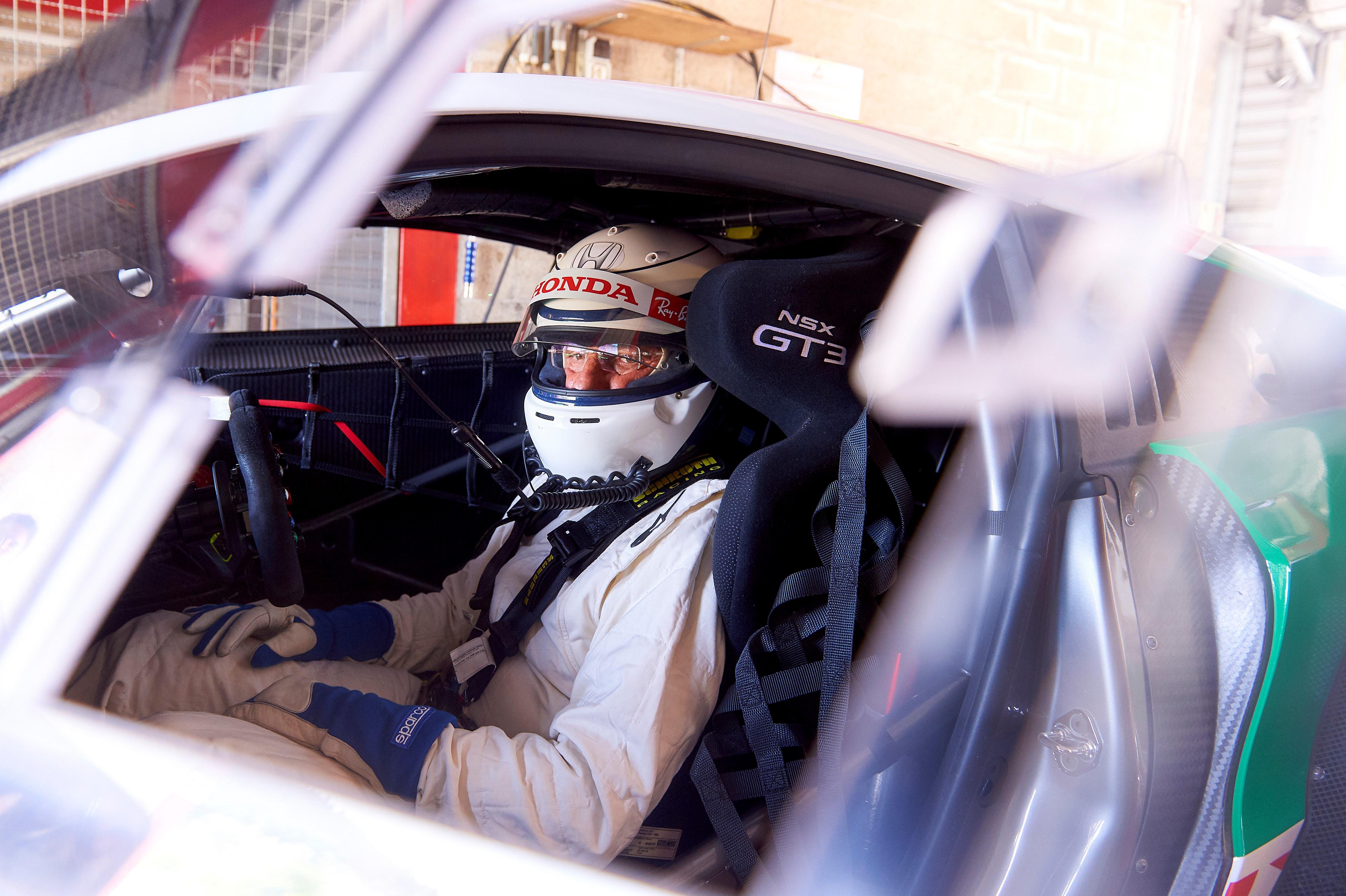 Патрезе и Депайе заедно с NSX GT3 в Спа