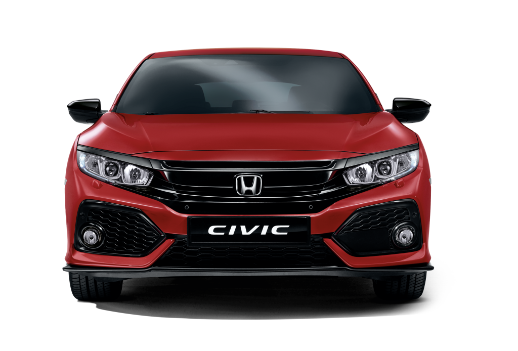 Honda Civic Hatchback Rally Red