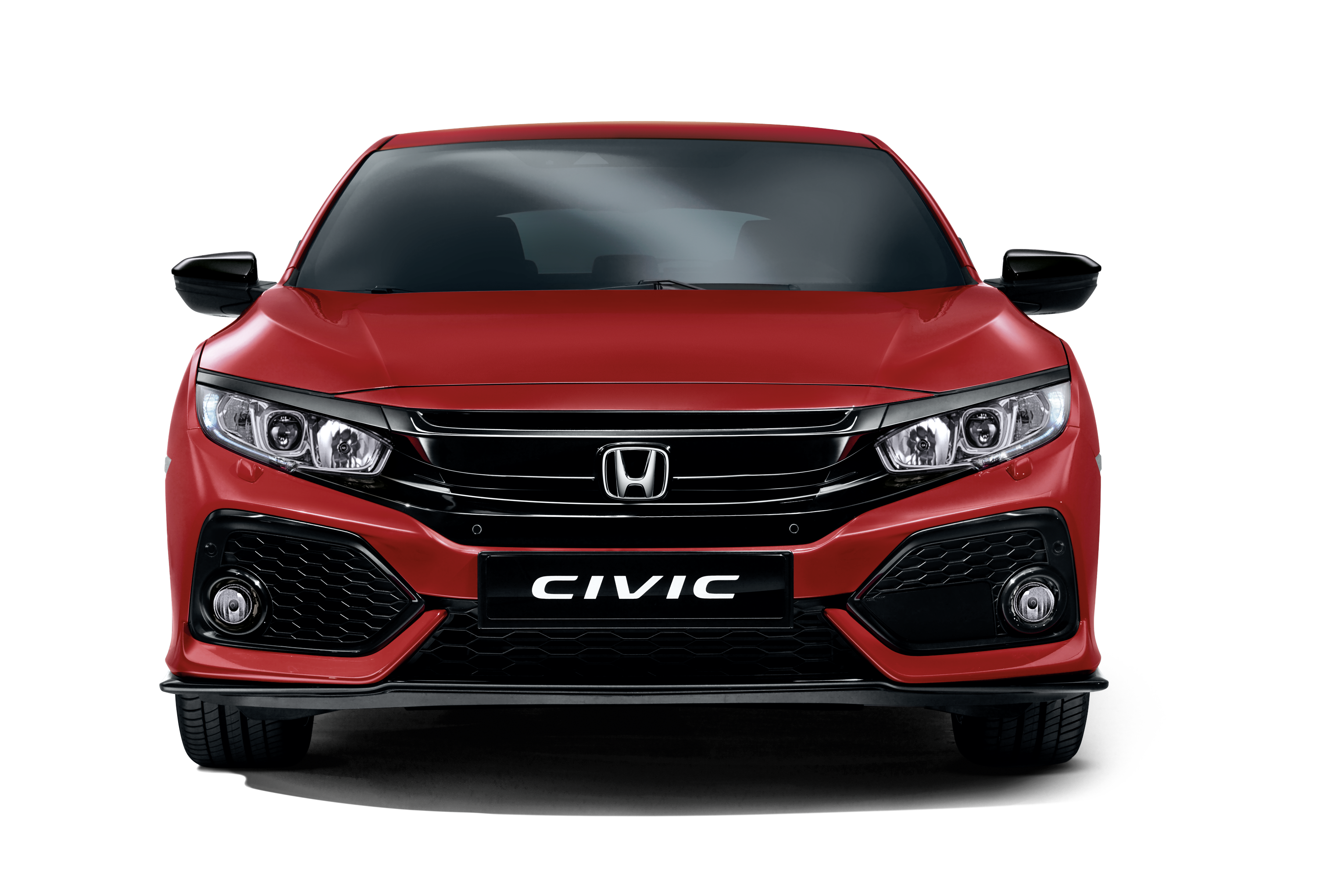 Honda Civic Hatchback Rally Red