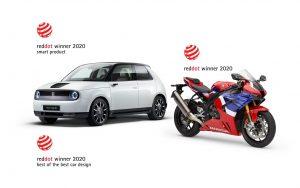 Honda с три награди Red Dot, включително и Best of the Best 2020 за Honda E